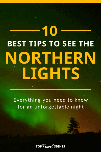 Pinterest graphic for how to see the Northern Lights