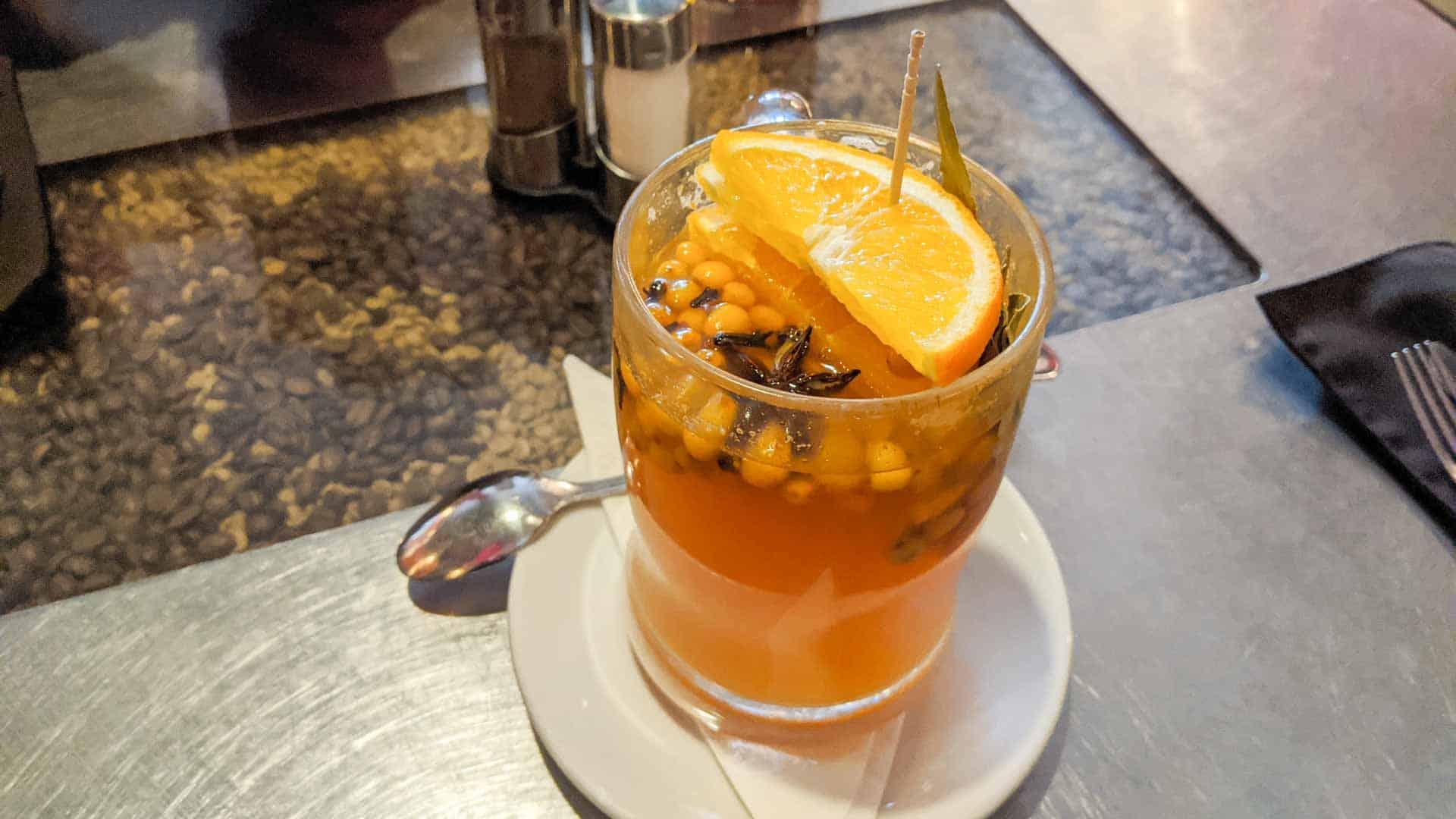 Latvian tea cocktail