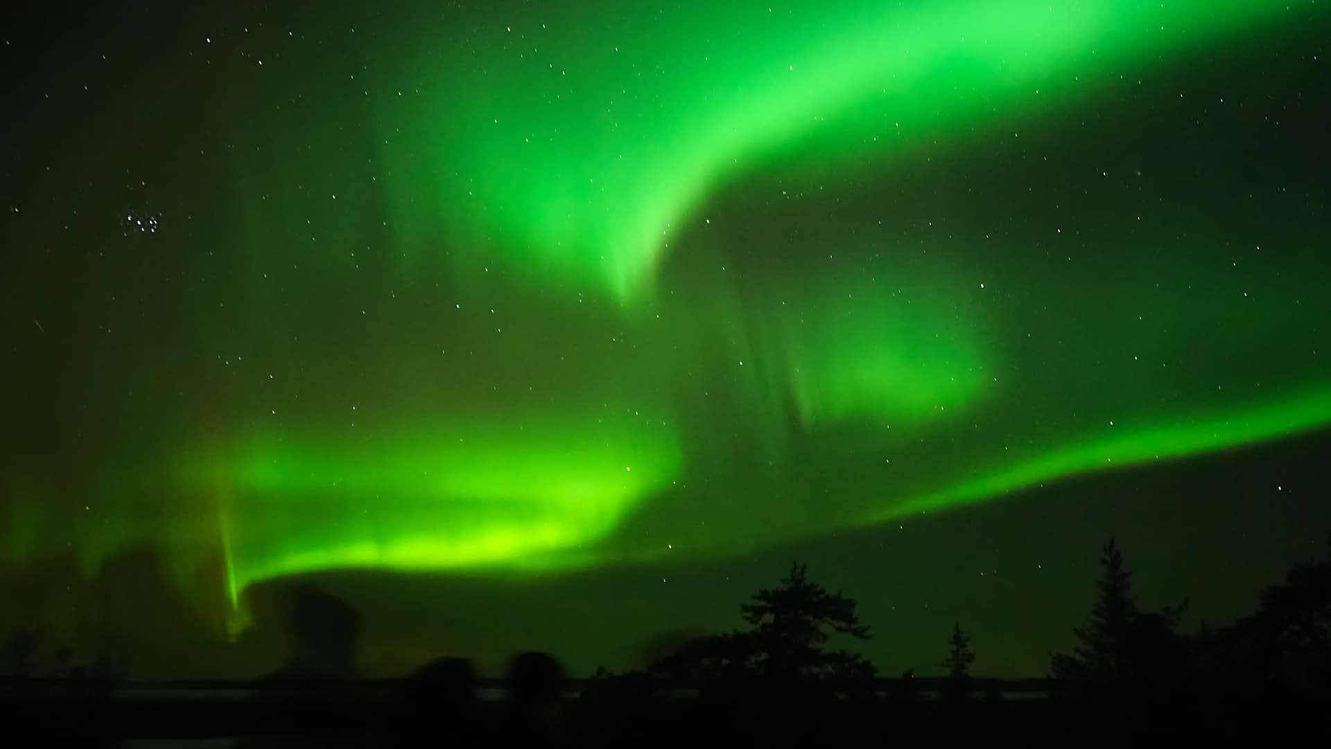 The Northern Lights seen from northern Finland