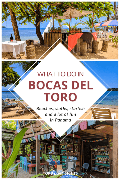Pinterest graphic for Top Things to do in Bocas del Toro