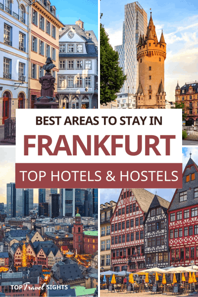 Pinterest graphic for Where to Stay in Frankfurt