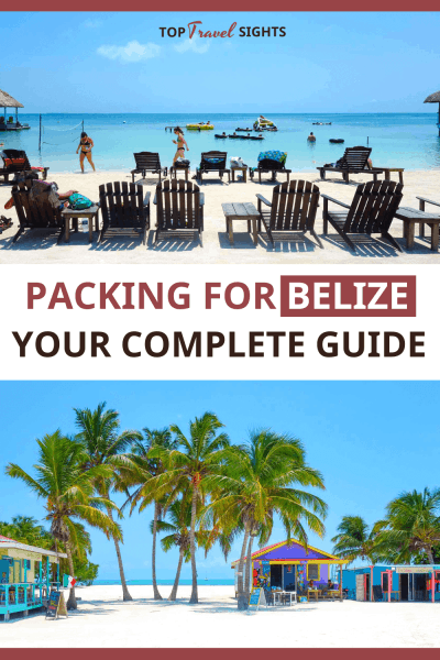 Pinteres graphic for Belize Packing List