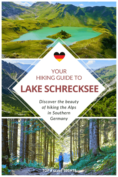 Pinterest graphic for How to Hike to Lake Schrecksee