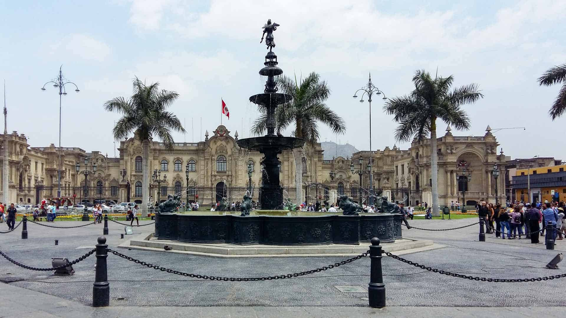 Fountain at Lima Old Town, Peru