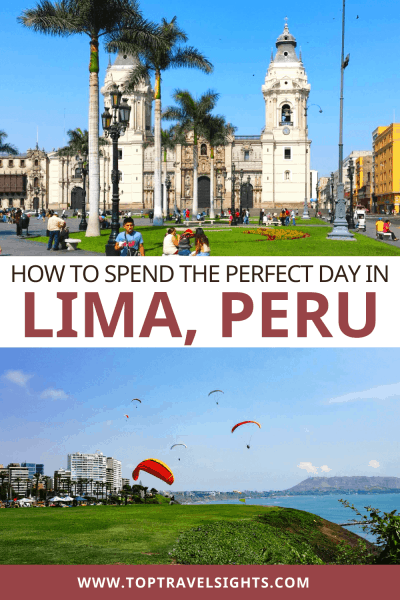 Pinterest graphic for One Day in Lima