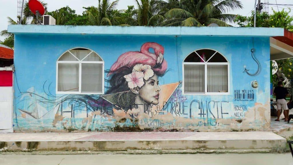 Street art on Isla Holbox, Mexico