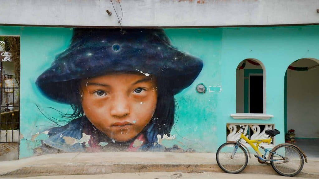 Street art on Isla Holbox Mexico