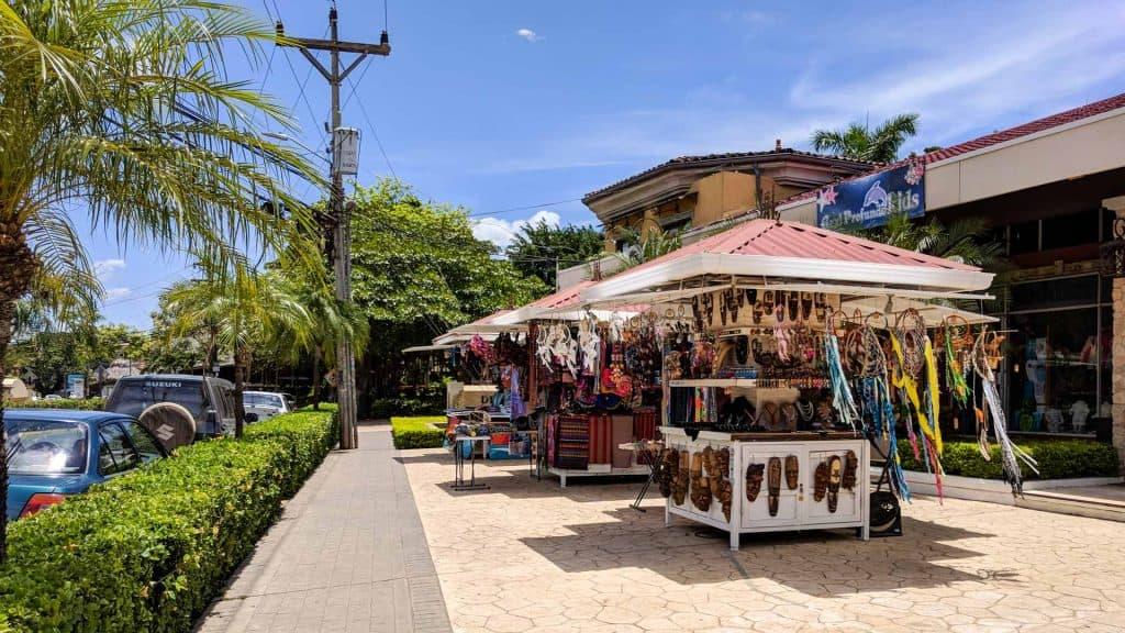 Street sellers in Tamarindo Costa Rica