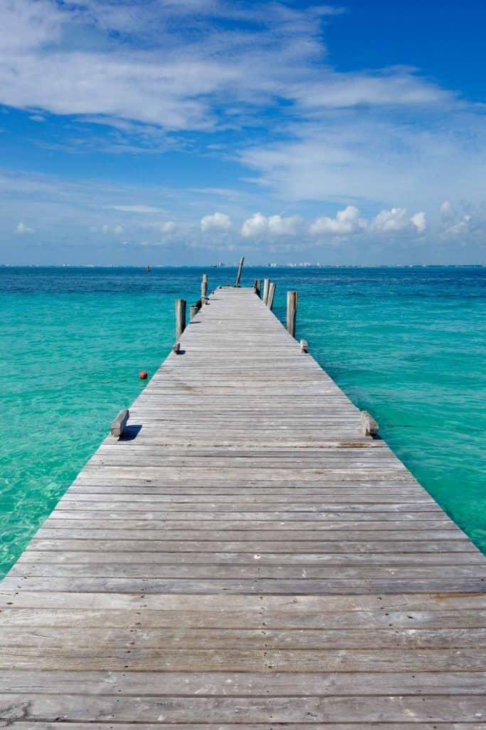 The sea at Isla Mujeres, Mexico