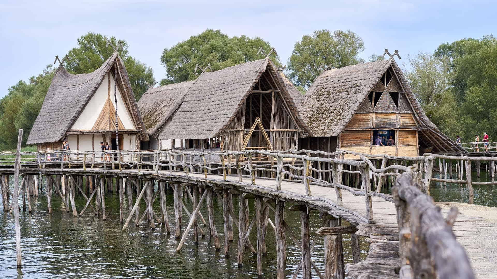 Stilt houses at Lake Constance