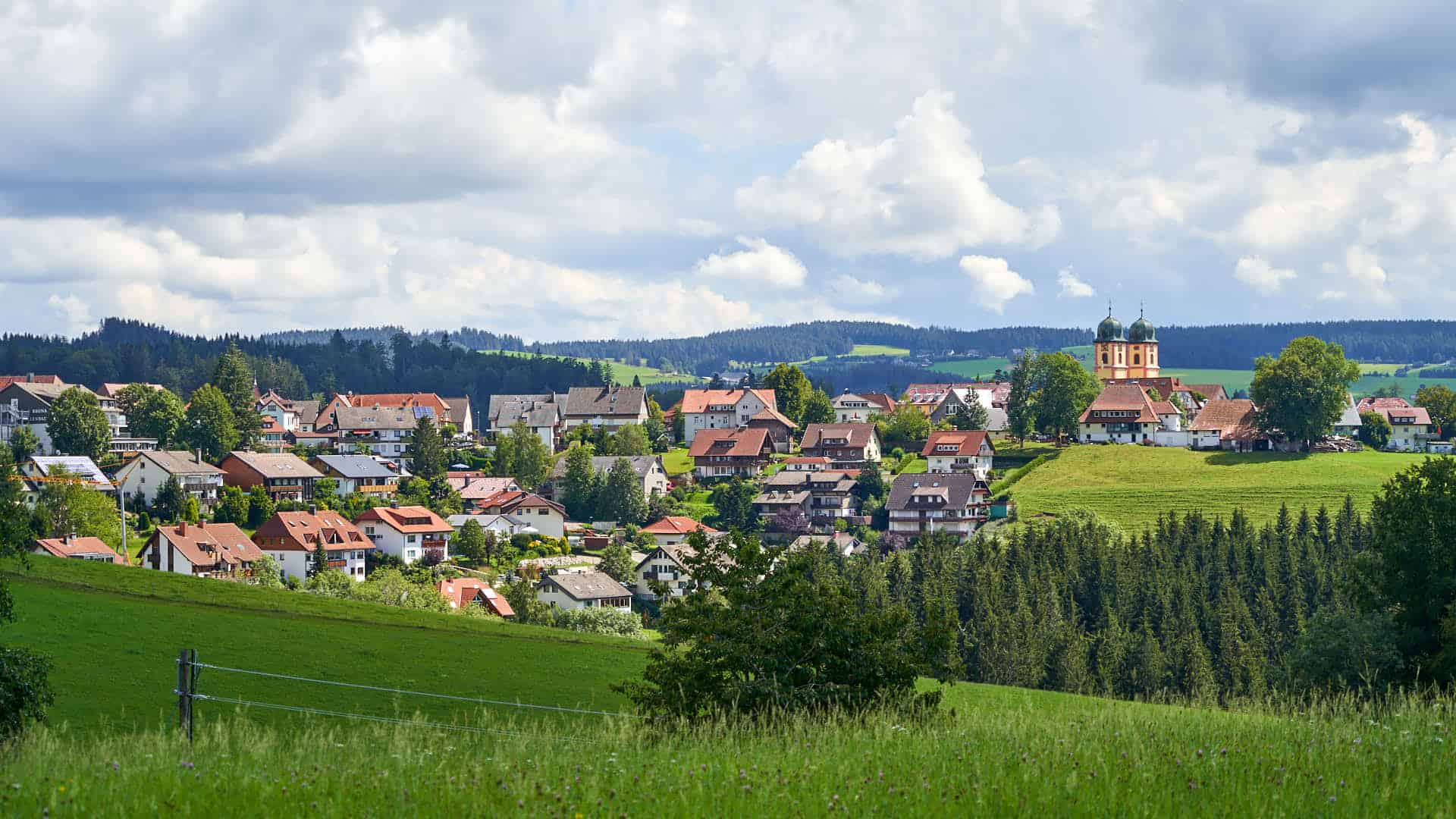 View of Black Forest village