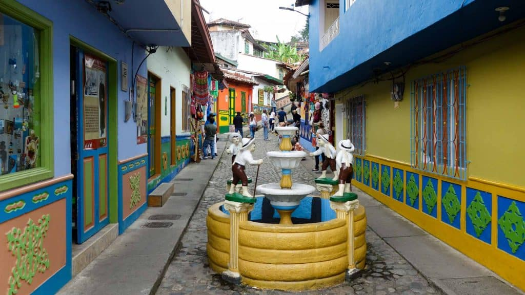 A street in Guatape, Colombia