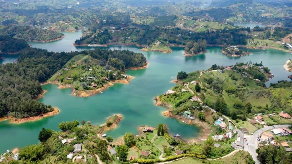 View from El Penol in Guatape, Colombia