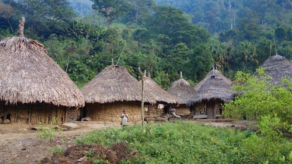 Village on the way to the Ciudad Perdida, Colombia