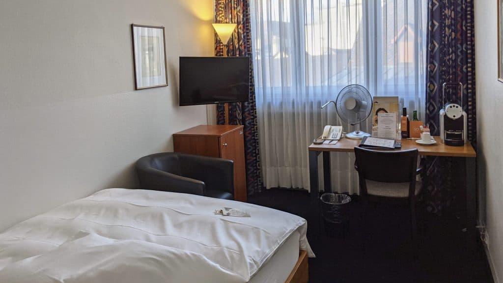 Business single room in the Sorell Hotel Merian, Basel