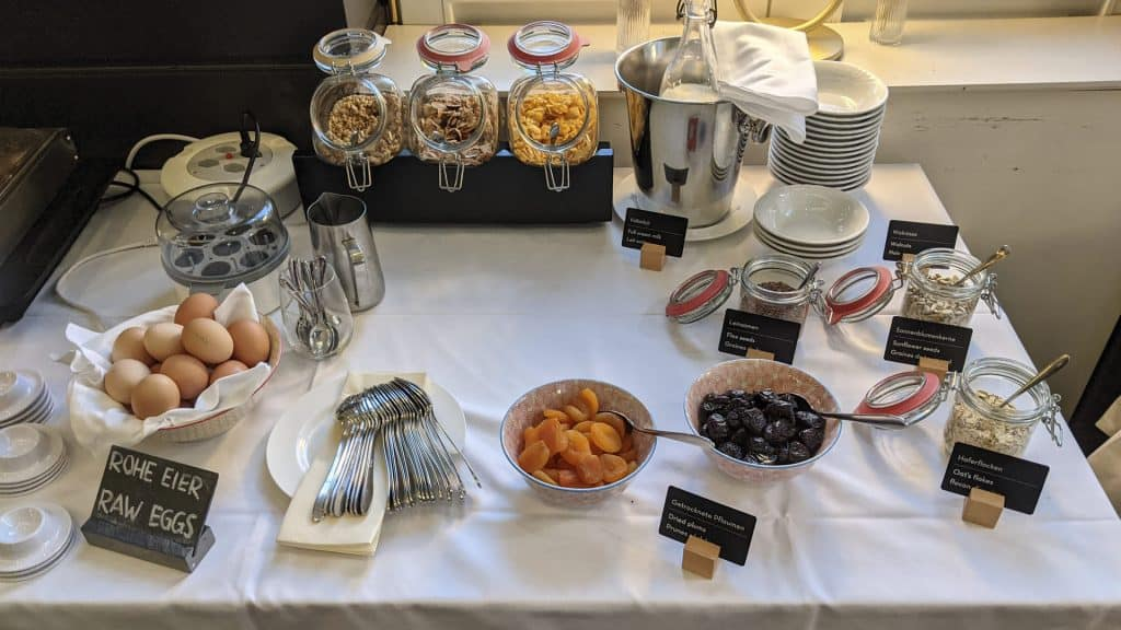 Cereals and muesli at the Sorell Hotel Merian